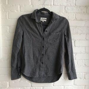 Madewell Shrunken Long Sleeve Button down shirt XS